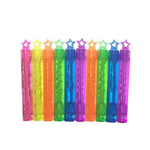 Toyvian 10 stücke Sterne Blase Stäbe Sortiment Neon Party Favors Weihnachten Blasen Spaß Spielzeug (Zufällige Farbe)