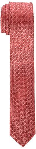 Calvin Klein Plume Geometric Corbata, Rojo (Red 600), 5 para Hombre