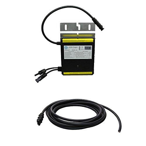 Ziele Power pigrid250–1T 250W Grid Tie Micro Inverter mit Stamm Kabel–Silber (Grid-ziel)