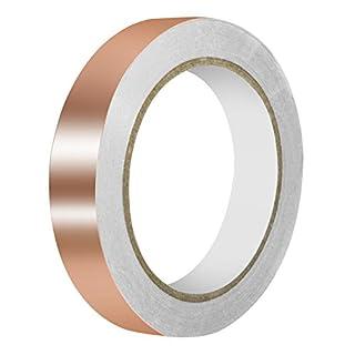 URXTRAL Kupferfolienband mit leitfähigem Klebstoff, doppelte Leitfähigkeit (20mmx20m) EMI Abschirmung, Glasmalerei, Handwerk, Löten, Papier Schaltungen, Elektrische Reparaturen Erdung