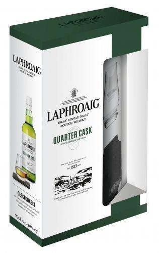 Laphroaig Quarter Cask Geschenkset mit Geschenkverpackung Whisky (1 x 0.7 l)