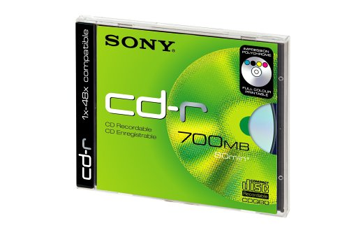 Sony Sony CDQ 80 DP CD-Recordable 48x Speed 80 min 700 MB Printable