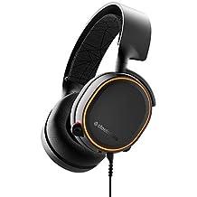 SteelSeries Arctis 5 (2019 Edition) Gaming Kulaklık - DTS Headphone:X 7.1 Surround - PC ve PS 4 Uyumlu - RGB Aydınlatma -Siyah