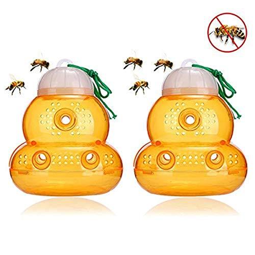 Zartk 2 Pack Wasp Hornet Falle, Bienenfallenfänger, Hängende Falle Köder um Wespen anzulegen, Gelbe Jacken, Hornissen und Bienen, Outdoor Wasp Killer Falle für Garten Garten Insektenschutzmittel von Z -
