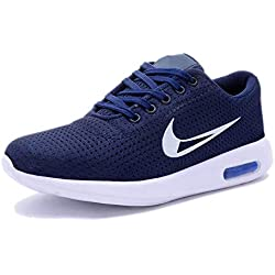 RD FASHION Men's Casual Canvas Running Shoes (8, Blue)