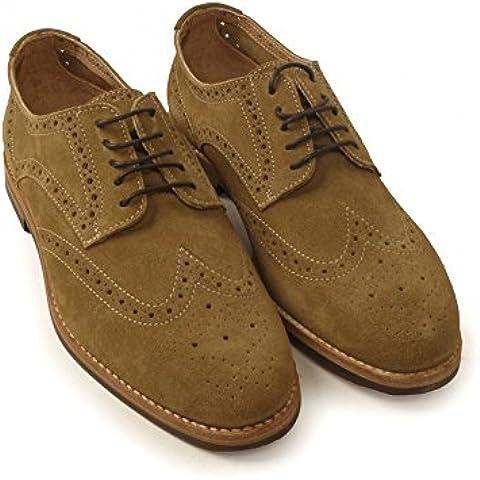 H by para hombre Harmer Hudson ante detalles perforados para cordones de zapatos-up marrón