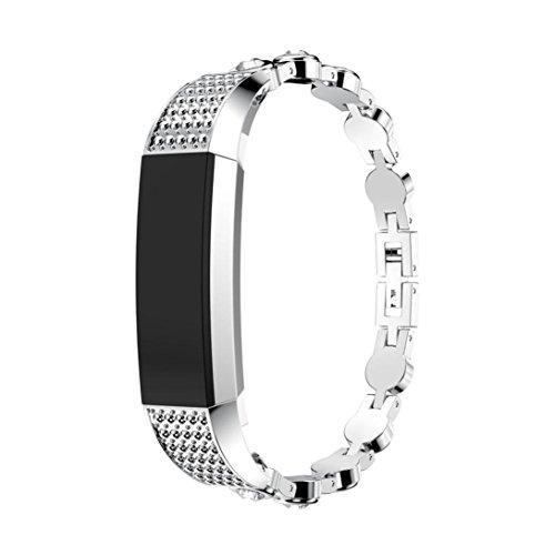 Alta HR / Fitbit Alta Uhr Uhrenarmband Armband , Echtes Edelstahl Uhrenarmband Band Strap Für Fitbit Alta HR / Fitbit Alta Uhr (C) ()