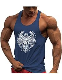 MEIHAOWEI Hombres Culturismo Tank Top Gimnasios Entrenamiento Fitness Algodón Sin Mangas Chaleco Casual Stringer Singlet Chaleco Top