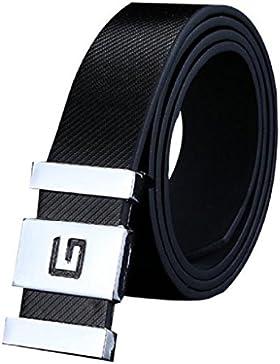 zolimx Cinturones de mujer, Unisex Correas de cuero hebilla automático