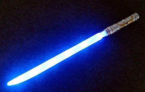 chwert Laser-Schwert 70 cm Leuchtstab Farbe blau LED für Kinder Weltraum-Waffe mit Sound für kleine Jedis ()