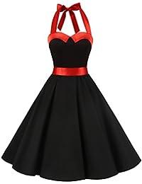 Amazon.it  vestiti anni 60 - Nero   Vestiti   Donna  Abbigliamento f46bb52023c7