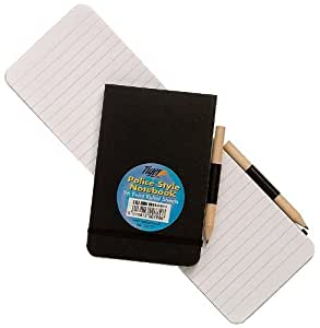 4x A6Police ruled Notebooks + Crayon reporters Notepad Pocket arbitre