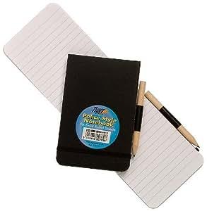 Tiger Carnet bloc-notes style carnet de contredanse Format A4 Ligné Crayon de papier inclus