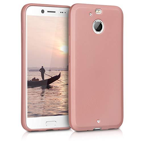 kwmobile HTC 10 evo Hülle - Handyhülle für HTC 10 evo - Handy Case in Metallic Rosegold