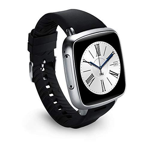 ZXJWH Smart Watch, 3G-Netzwerk-Kommunikation WiFi Touchscreen Bluetooth GPS Scratch Resistant Sport Heart Rate Monitor Waterproof Fitness Activity Tracker für iPhone und Android,Silver -