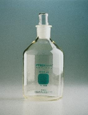 Corning 61500–2L Pyrex Plus 2L schmal Mund Zylindrische Reagenz Aufbewahrung Flasche mit Standard Taper Stopper (Mund Labor-reagenz-flasche Schmalen)