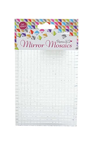 Do Craft - Mosaicos adhesivos para espejos 5 mm, 600 unidades, color plateado