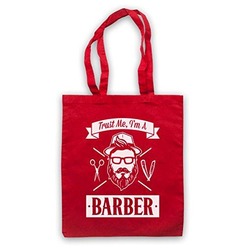 Fidati Di Me In Un Barbiere Divertente Lavoro Slogan Umhangetaschen Rot