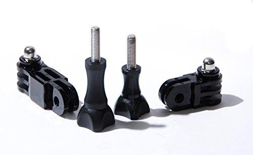 protastic 3Way Pivot & Schrauben für GoPro und SJCAM Action Kamera Helmhalter (2Stück) -