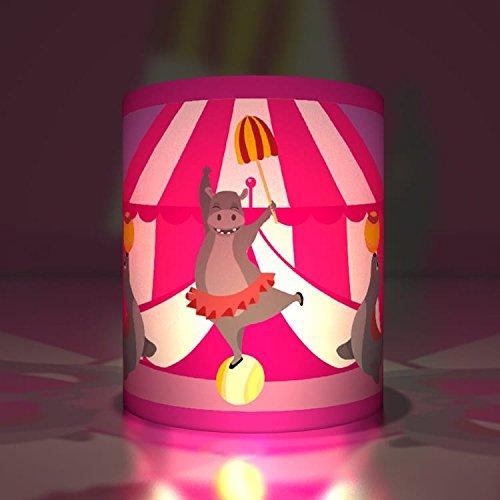 Kartenkaufrausch 5 süße Zirkus Transparentlichter| Teelichthalter| Kleine Transparentpapier Leuchten mit Seelöwen und tanzendem Nilpferd (Zirkus-party-einladungen)