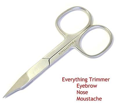 Nose Scissor Mustache Scissors Baby Hair Trimming Scissor Grooming Beard Scissor Eyebrow Scissor Stainless Steel (Sharp Scissor)
