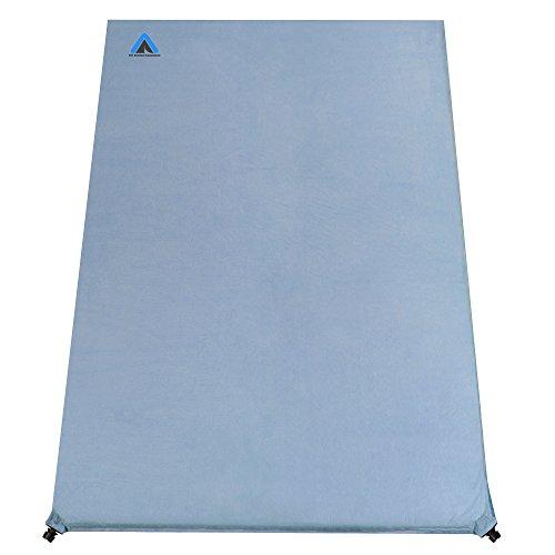 10T Outdoor Equipment Ben 600 Duo Selbstaufblasende Isomatte, Blau, 200 x 130 x 6 cm