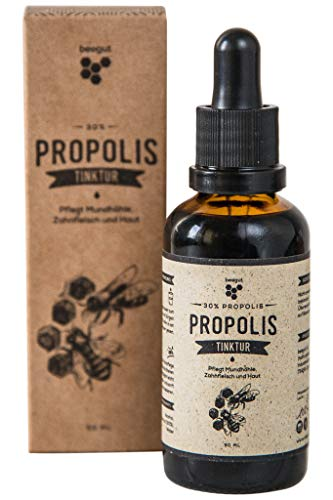 beegut Propolis Tinktur mit 30% natürlichem Propolis Extrakt, hochwertige Imkerqualität, Schutzharz der Bienen, Hergestellt in Deutschland