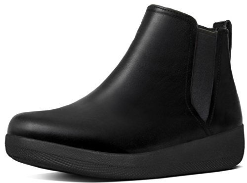 FitFlopTM SuperChelseaTM Boot, Casual Ankle Boots in Black or Chocolate Leather 5.5 Black