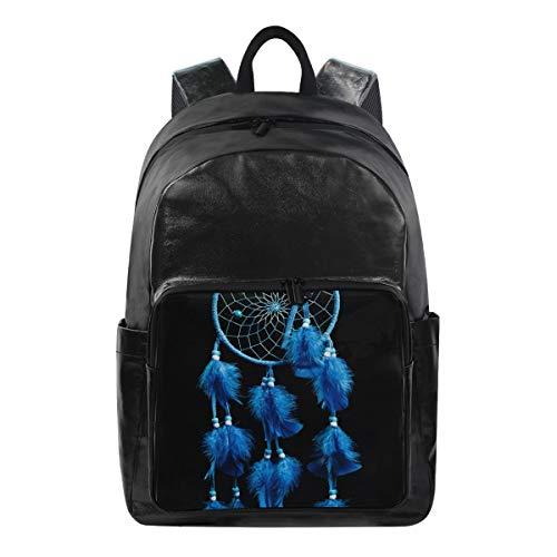 ISAOA Moda impermeable mochila escolar mochila para portátil, 15.6 pulgadas atrapasueños en negro computadora negocios viaje Mochila Casual Daypack para viajes negocios universidad mujeres hombres