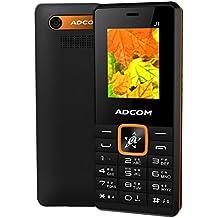Adcom J1 Voice Changer Dual Sim Mobile Phone with Wireless FM Radio (1.8 inch Display, 1050 mAh Battery, Black/Orange)