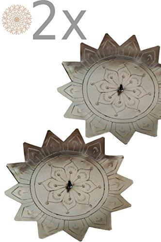 ... Silber Jaini Stern 15cm Groß | Marokkanischer Metall Kerzenleuchter Für  Taufe, Kommunion, Auf Gedeckter Tisch Als Tischdeko Im Wohnzimmer 2 Stück