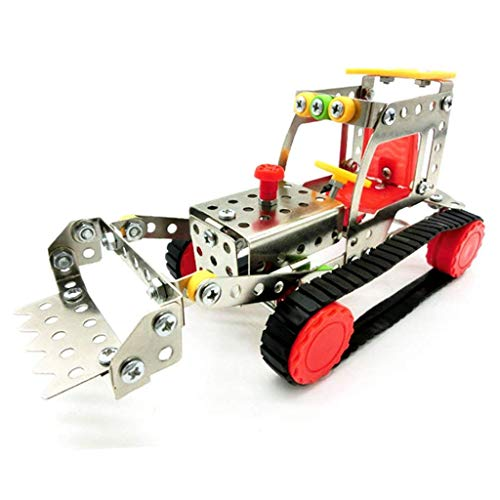 FashLady Assembly Metal Model Excavator Toy Building Puzzles Kids Intelligence Toy LX015