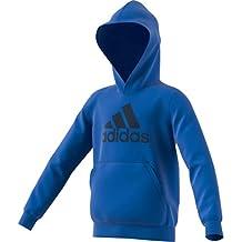 adidas YB MH BOS PO Sudadera, Niños, Azul/Maruni, 164 (13