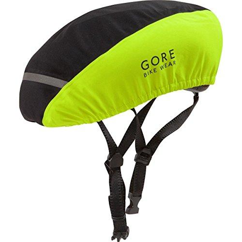 Gore Bike Wear Universal 2.0 Gore-Tex - Cubrecasco unisex, color negro / amarillo, talla 54-58