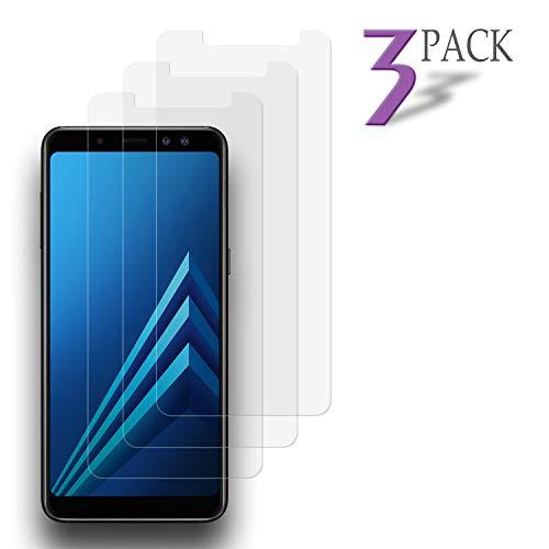 Le Destin Galaxy A8 2018 Panzerglas Schutzfolie 3 Stück Ultra-klar Schutzfolie für Samsung Galaxy A8,9H Härte Bildschirmschutzfolie,Anti-Öl,Kratzer,Blasen & Fingerabdruck, Panzerglasfolie für A8 2018