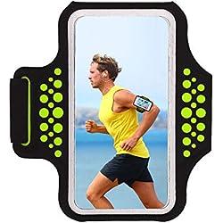 HAISSKY Fascia da Braccio Sportiva Universale con Cinturino Regolabile per Smartphone meno di 6.2 pollici come per iPhone X/ XS/XS Max/8 Plus,Galaxy S5 S6 S7 Edge Note 5, Note 8