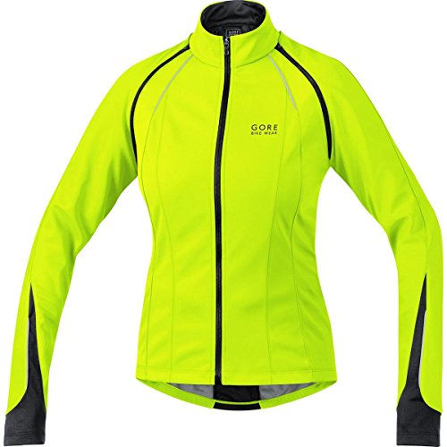 GORE BIKE WEAR 3 in 1 Damen Soft Shell Rennrad-Jacke, GORE WINDSTOPPER, PHANTOM LADY 2.0 WS SO Jacket, Größe: 36, Neon Gelb/Schwarz, JWPHAL Gore Tex Short