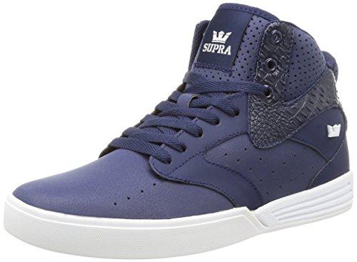 Supra KHAN, Sneaker alta Unisex - adulto, Blu (Blau (NAVY - WHITE   NVY)), 41