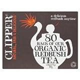 Clipper Organic Redbush Influsion Tea Bags 80 per pack (Case Of 4, Total 320 Tea Bags)