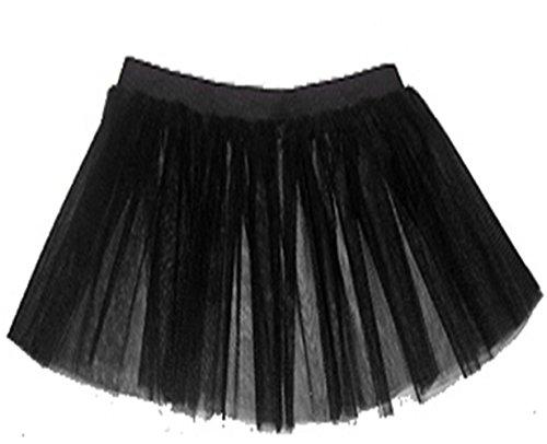 lenes Damen-Partykleid, neonfarben, mit Tutu-Rock, schwarz ()