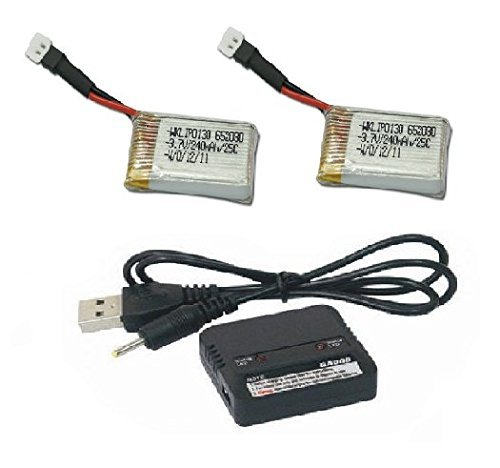 radio-shack-surveyor-drone-2x-battery-charger-37v-240mah-25c-lipo-batteries-charger-combo-fast-from-
