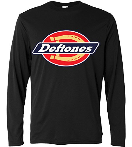 T-shirt a manica lunga Uomo - Deftones - HorseShoe - Long Sleeve 100% cotone LaMAGLIERIA, XL, Nero