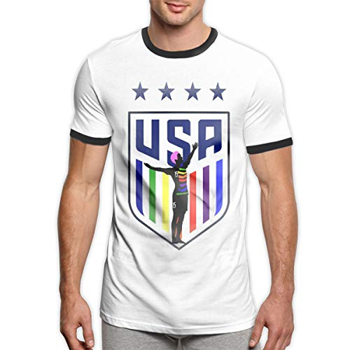 Print Rapinoe Champ Men's Ringer Tee Retro Style Men's Shirt (Peoples T-shirt Champ)
