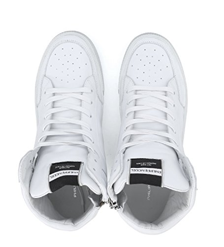 Philippe Model Sneaker Knicks in Pelle Bianca con Zip Bianco