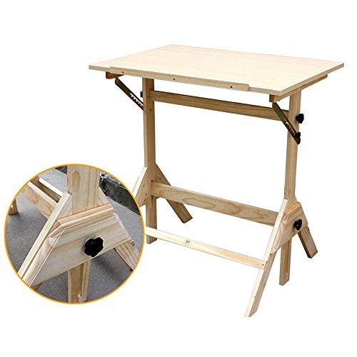 Mesa de madera maciza plegable de 90x60. Para utilizar como mesa de dibujo o escritorio
