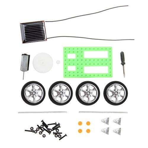 BlackPJenny 1Pcs Puzzle educativo per Bambini IQ Gadget Mini Giocattolo Solare DIY Car Hobby Robot Miglior Regalo di Compleanno per Bambini Ragazzi V