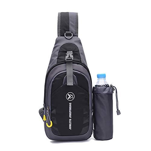 Outdoor Sling Bag Nylon Wasserdicht Schultertaschen Multifunktions Leichter Crossbody Rucksack Geldbeutel Daypacks mit Wasserkocher Set für Reisen Wandern Arbeiten Radfahren Brusttasche