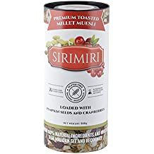 SIRIMIRI Premium Toasted Millet Muesli - Loaded with Pumpkin Seeds and Cranberries, 500 Grams