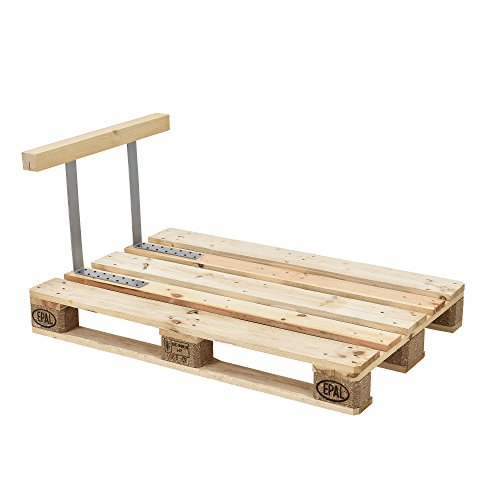 [en.casa] 1x Sitzkissen für Euro-Paletten-Sofa [creme] Palettenkissen Auflage In/Outdoor Polster Möbel