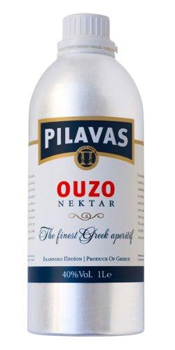 Ouzo Nektar Pilavas 40%-Vol. in einer neuen 1-L-Aluminium-Flasche